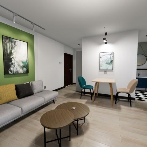 北京整租CBD总部公寓二期租房户型实景图